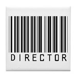 Director Barcode Tile Coaster