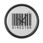 Director Barcode Large Wall Clock