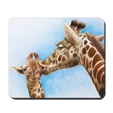 Giraffe and Calf Mousepad