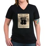 The James Gang Women's V-Neck Dark T-Shirt