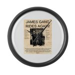 The James Gang Large Wall Clock