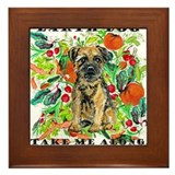 Border Terrier Environmental Framed Tile