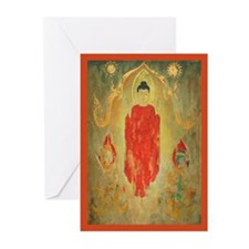 buddhist art peace Greeting Cards (Pk of 10)