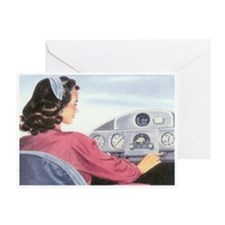 Female Pilot Greeting Card
