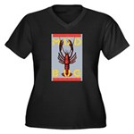 MudBug Madness No. 2 Women's Plus Size V-Neck Dark