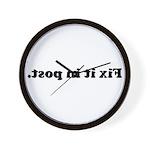 WTD: Fix it in post. Wall Clock
