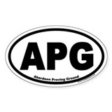 Aberdeen Proving Ground APG Euro Oval Decal
