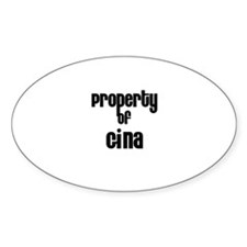 Property of Gina Oval Decal