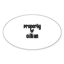 Property of Gillian Oval Decal