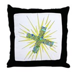 Cross Color 1 Throw Pillow