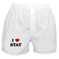 I Love STAT Boxer Shorts