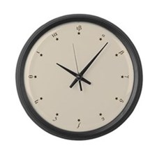 Greek Numbers with Stars Large Wall Clock