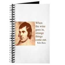 ROBERT BURNS WINE QUOTE Journal