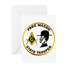 Masonic State Trooper Greeting Card
