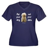 Pet Your Dog Women's Plus Size V-Neck Dark T-Shirt