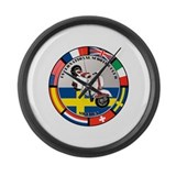 SWEDEN VESPA SCOOTER Large Wall Clock