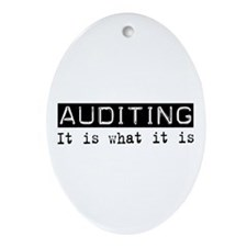 Auditing Is Oval Ornament