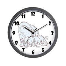 Dinosaurs Family Wall Clock