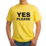 Say Please With This Yellow T-Shirt
