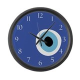 EVIL EYE PROTECTION Large Wall Clock