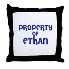 Property of Ethan Throw Pillow