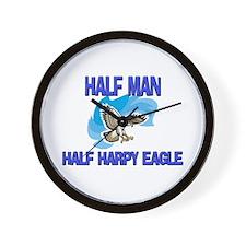 Half Man Half Harpy Eagle Wall Clock