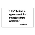 Reagan Government Quote Rectangle Sticker 10 pk)