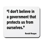 Reagan Government Quote Mousepad