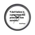 Reagan Government Quote Wall Clock