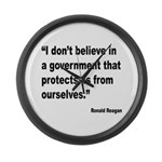 Reagan Government Quote Large Wall Clock