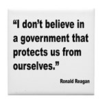 Reagan Government Quote Tile Coaster