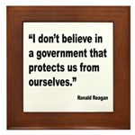 Reagan Government Quote Framed Tile