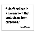 Reagan Government Quote Small Poster