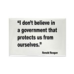 Reagan Government Quote Rectangle Magnet (10 pack)