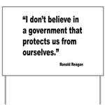 Reagan Government Quote Yard Sign