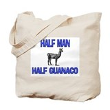Half Man Half Guanaco Tote Bag