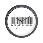 Data Entry Clerk Barcode Wall Clock