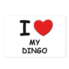 I love MY DINGO Postcards (Package of 8)