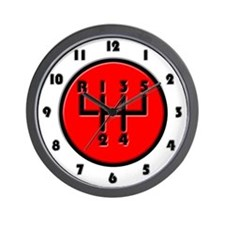 Stick shift Wall Clock