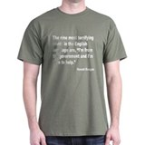 Reagan Terrifying Words Quote (Front) T-Shirt