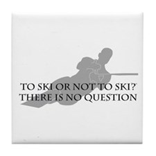 To Ski Or Not To Ski (Waterskiing) Tile Coaster