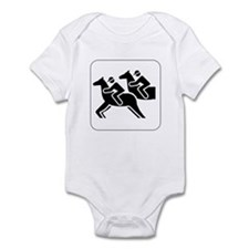 Horse Racing Icon Infant Creeper