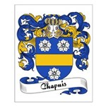 Chapuis Family Crest Small Poster