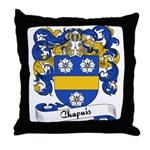 Chapuis Family Crest Throw Pillow