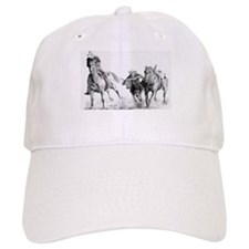 Steer Wrestler Baseball Cap