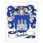 Chatelain Family Crest Small Poster