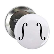 "F-Holes 2.25"" Button (10 pack)"