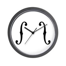 F-Holes Wall Clock