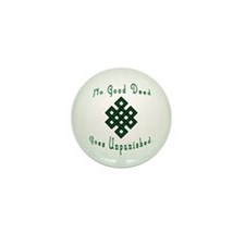 No Good Deed knotwork Mini Button (10 pack)
