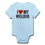 I Love My Welder Infant Bodysuit